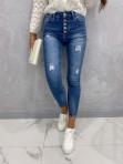 Spodnie jeansowe zapinane na guziki z przetarciami Vilsa 09 - photo #2