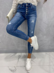Spodnie jeansowe zapinane na guziki z przetarciami Vilsa 09 - photo #3