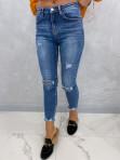 Spodnie ciemny jeans z dziurami Nomi 14 - photo #2
