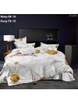 Komplet pościeli 3-częściowy  160x200cm marmurek +złote wzory biała Arczi - photo #0